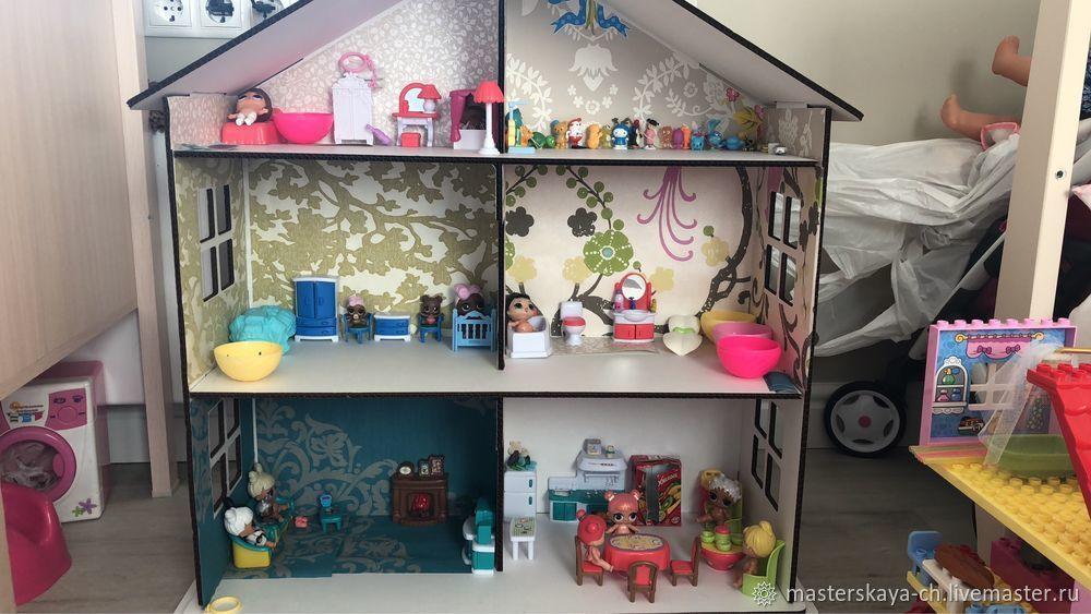 Кукольный дом из гофрокартона, Кукольные домики, Чебоксары, Фото №1