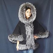 handmade. Livemaster - original item Cashmere jacket with silver fox fur. Handmade.