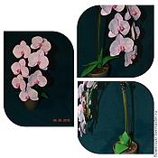 Цветы и флористика ручной работы. Ярмарка Мастеров - ручная работа орхидея в кашпо ручной работы. Handmade.