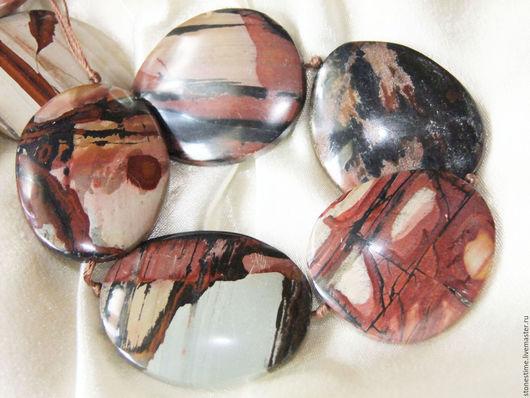 Для украшений ручной работы. Ярмарка Мастеров - ручная работа. Купить МАХАРАДЖА индийский красочный камень (индийская яшма) бусины. Handmade.