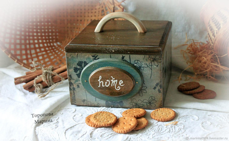 Box - box for cookies and sweets. ' House', Utensils, Krasnoyarsk,  Фото №1