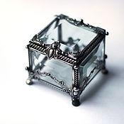 Свадебный салон ручной работы. Ярмарка Мастеров - ручная работа Маленькая квадратная шкатулка для колец. Handmade.