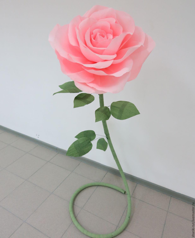 Ростовые розы из бумаги своими руками