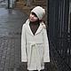 пальто, пальто вязаное, пальто ручной работы, пальто для девочки,  пальто купить, шапочка, шапочка вязаная, меринос