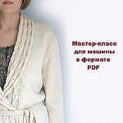 Материалы для творчества handmade. Livemaster - original item Master class on knitting cardigan Retro. Handmade.