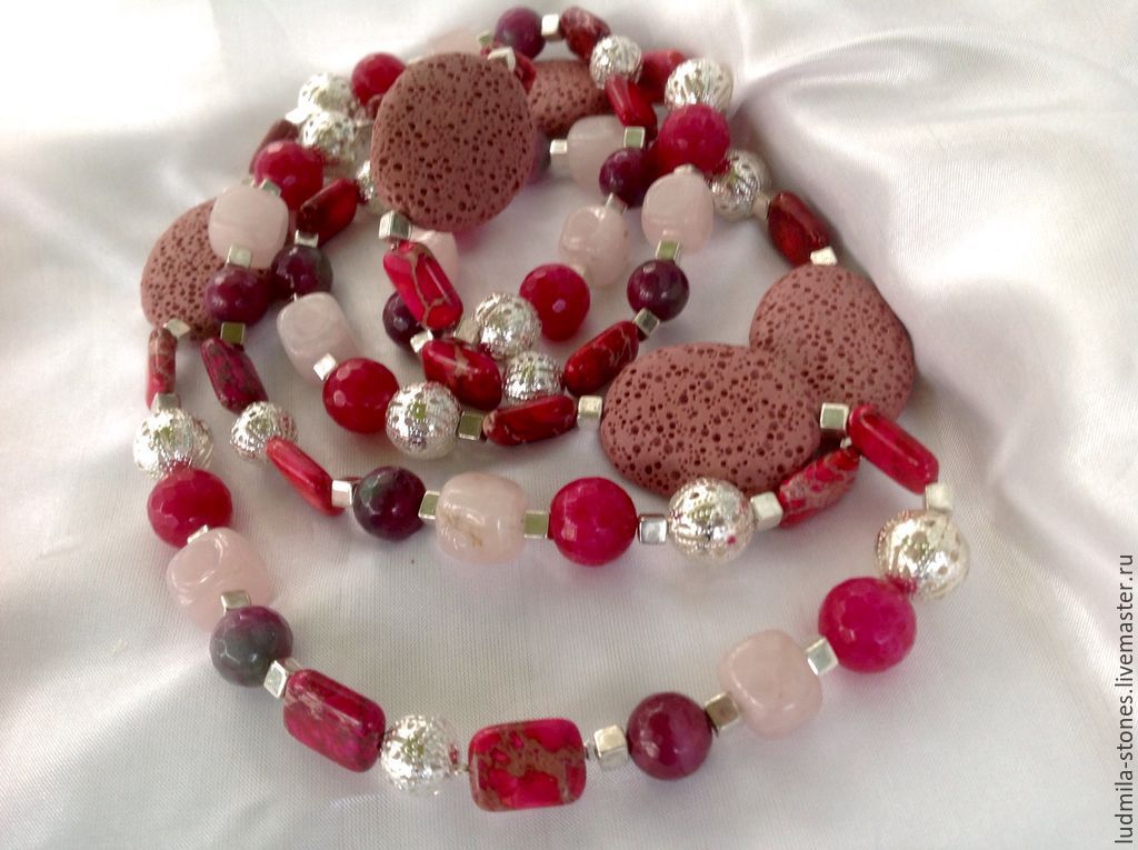 Long necklace 'Berry mix', Necklace, Moscow,  Фото №1
