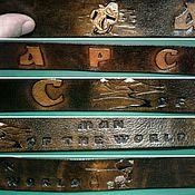 Ремни ручной работы. Ярмарка Мастеров - ручная работа Ремень из кожи именной ручной работы. Handmade.
