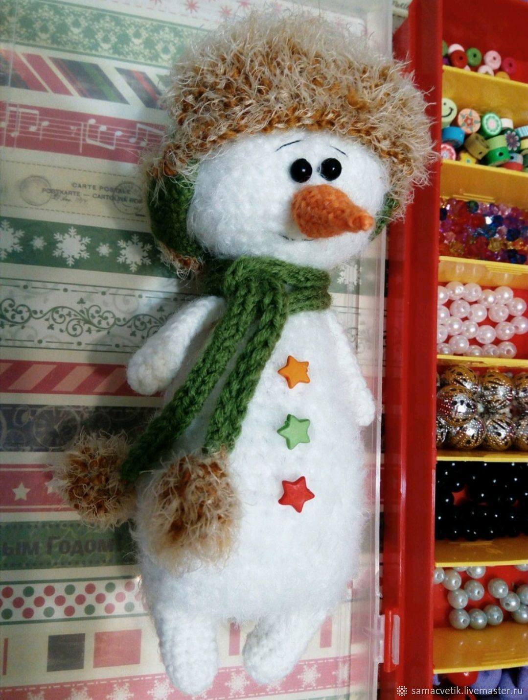 Soft knitted snowman toy, Stuffed Toys, Rybinsk,  Фото №1