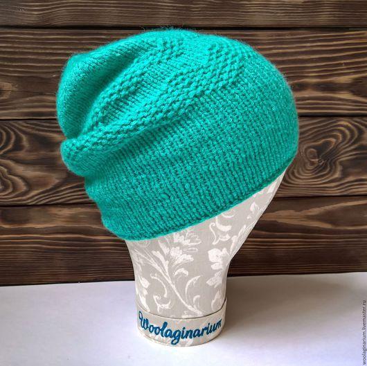 Шапки ручной работы. Ярмарка Мастеров - ручная работа. Купить Мягкая шапочка бини бирюзового цвета. Handmade. Мятный
