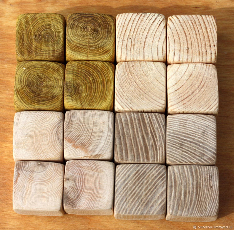 Кубик скумпия, сосна, ясень, акация 4,5 см, Аппликации вставки отделка, Тамбов, Фото №1