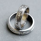 Украшения handmade. Livemaster - original item Wedding rings in white gold. Handmade.