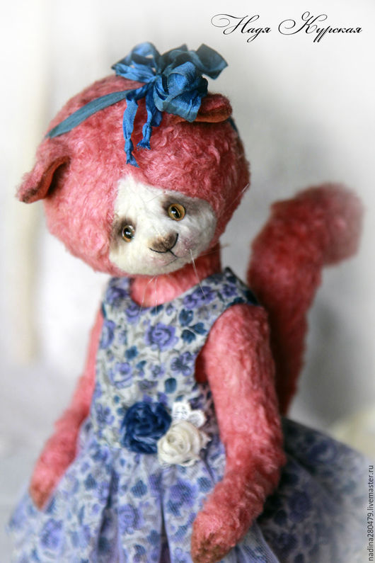 Мишки Тедди ручной работы. Ярмарка Мастеров - ручная работа. Купить Теддии кошечка Маруся (скидка 30% от указанной стоимости). Handmade.