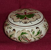 Винтаж handmade. Livemaster - original item BOX or powder BOX. VINES (LSFI). Hand painted!. Handmade.