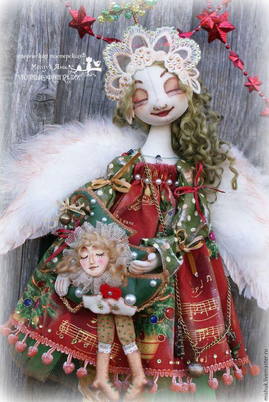 """Сказочные персонажи ручной работы. Ярмарка Мастеров - ручная работа. Купить Ангел """"Новогодняя Ёлочка"""". Handmade. Комбинированный, новогодний декор"""