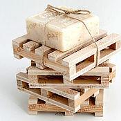 Для дома и интерьера ручной работы. Ярмарка Мастеров - ручная работа Мини палета, подставка из фанеры, мыльница. Handmade.