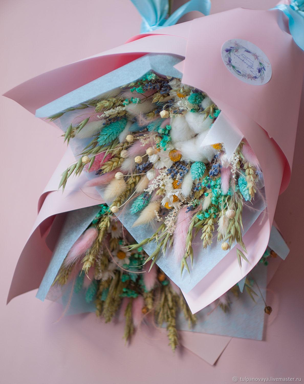 Вертикальные букеты из сухоцветов, Цветы сухие и стабилизированные, Санкт-Петербург,  Фото №1