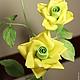 """Броши ручной работы. """"ЛИМОНЧЕЛЛО"""". ЦВЕТЫмания (FLOWERmania). Ярмарка Мастеров. Брошка, розы из шелка, цветочный, натуральный шёлк"""