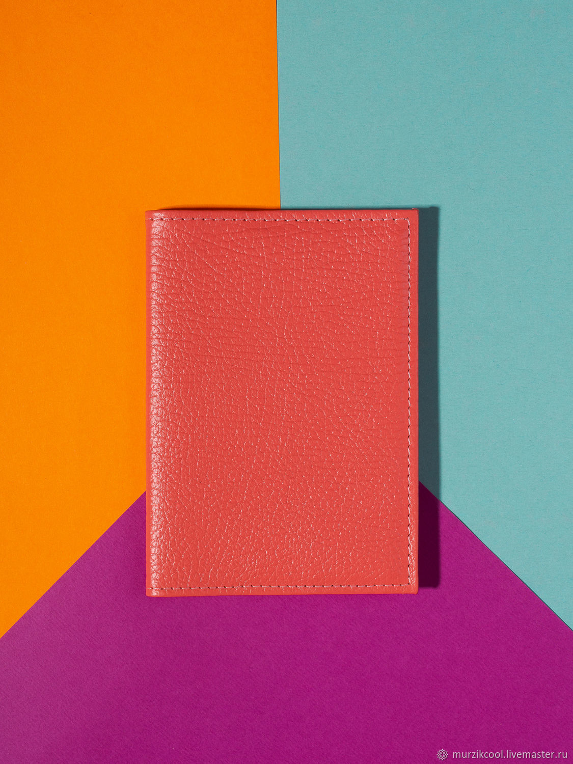 Passport cover 'Classic' Grapefruit, Cover, Moscow,  Фото №1
