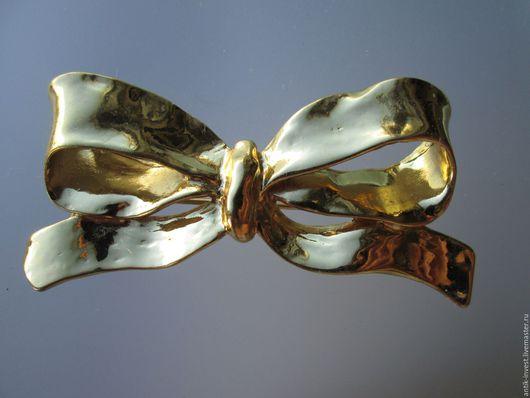 Винтажные украшения. Ярмарка Мастеров - ручная работа. Купить винтажная брошь Красивый БАНТ под золото Yves Saint Laurent оригинал. Handmade.