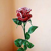 Цветы ручной работы. Ярмарка Мастеров - ручная работа Роза. Handmade.