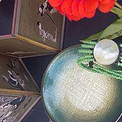 Винтаж handmade. Livemaster - original item Modernism by David Andersen. Norway. PLATE.. Handmade.