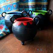 Ritual attributes handmade. Livemaster - original item Small Witch`s Cauldron (0782). Handmade.