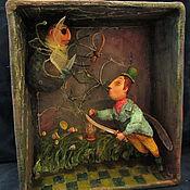 """Куклы и игрушки ручной работы. Ярмарка Мастеров - ручная работа Артбокс """"Поединок Комара с Пауком  из сказки Муха -Цокотуха"""". Handmade."""