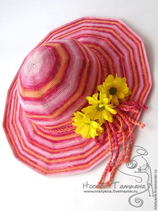 Шляпы ручной работы. Ярмарка Мастеров - ручная работа. Купить Шляпка Яркое лето. Handmade. Шляпка, вязаная шляпка, яркая