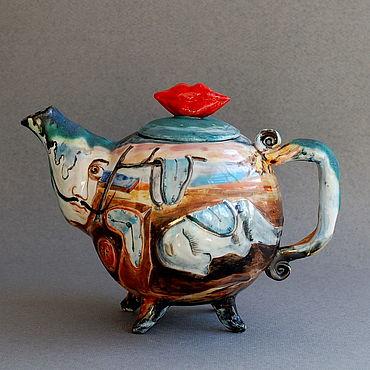 Посуда. Ярмарка Мастеров - ручная работа Сальвадор Дали. Заварочный чайник. Handmade.