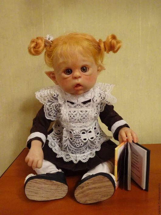 Куклы-младенцы и reborn ручной работы. Ярмарка Мастеров - ручная работа. Купить мини Эльфик. Handmade. Бежевый, генезис