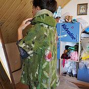 """Одежда ручной работы. Ярмарка Мастеров - ручная работа Накидка кимоно """"Зеленое настроение"""". Handmade."""