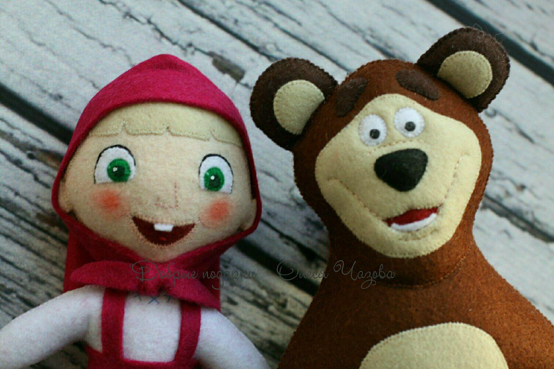 Маша и медведь из фетра своими руками