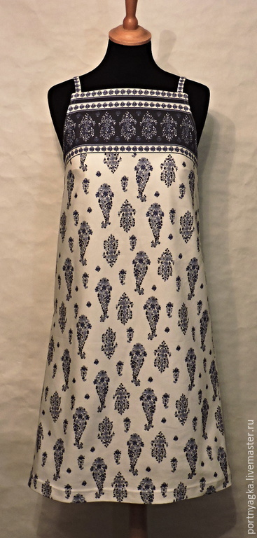 Платья ручной работы. Ярмарка Мастеров - ручная работа. Купить Сарафан Твигги. Handmade. Белый, стиль 60-х