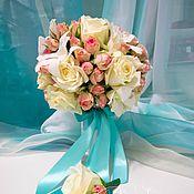 Свадебный салон ручной работы. Ярмарка Мастеров - ручная работа Свадебный букет для невесты из роз и орхидей. Handmade.