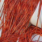Канитель ручной работы. Ярмарка Мастеров - ручная работа Канитель: Канитель мягкая Оранж 1 мм. Handmade.