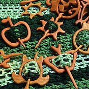 Украшения ручной работы. Ярмарка Мастеров - ручная работа Фибула деревянная  из дуба / бука. Handmade.