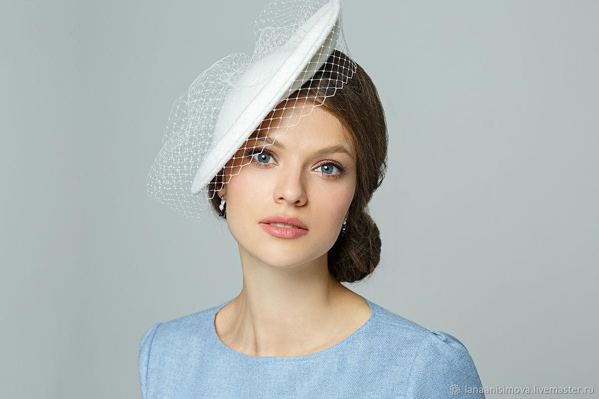 Vintage · Clothing   Accessories handmade. wedding hat with veil. Exclusive  HATS. LANA ANISIMOVA. 157efe4c0ff