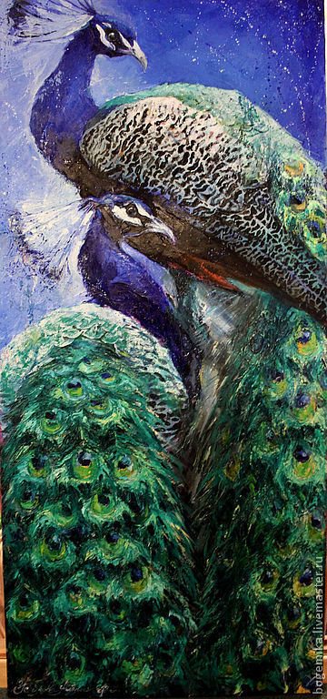 Животные ручной работы. Ярмарка Мастеров - ручная работа. Купить Райские птицы. Handmade. Птица, импрессионизм, экзотика, фен-шуй