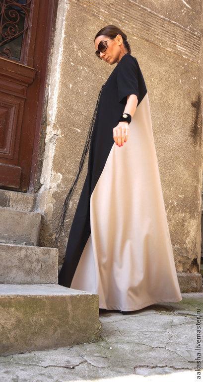 Платья ручной работы. Ярмарка Мастеров - ручная работа. Купить Длинное платье 2 Colors. Handmade. Платье, Свободный стиль