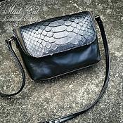 Сумки и аксессуары handmade. Livemaster - original item Handbag of genuine leather and Python skin. Handmade.