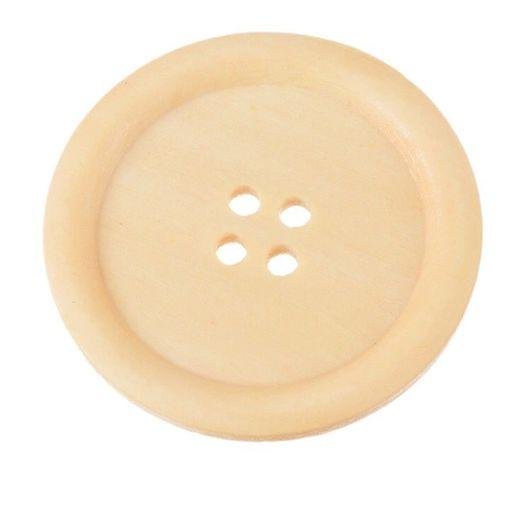 Шитье ручной работы. Ярмарка Мастеров - ручная работа. Купить Пуговицы деревянные круглые, 5 см. Handmade. Пуговица