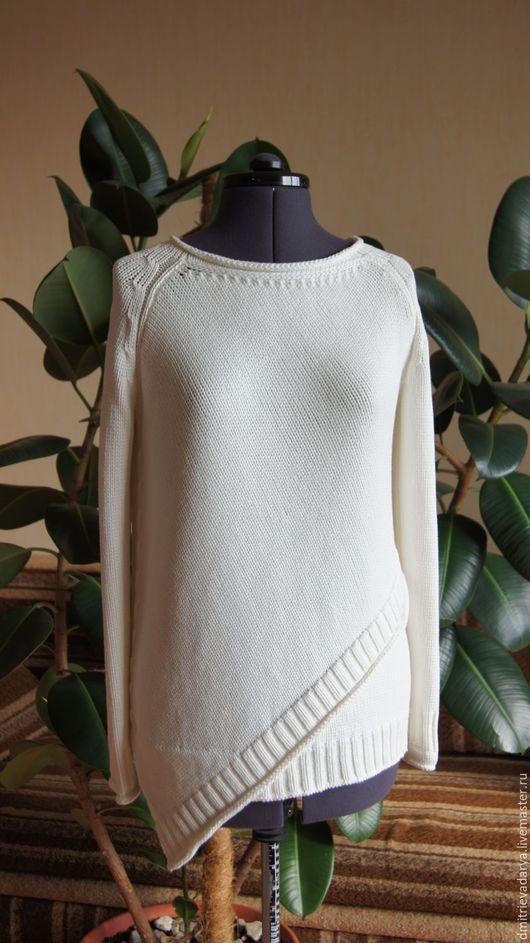 Кофты и свитера ручной работы. Ярмарка Мастеров - ручная работа. Купить Асимметричная кофточка. Handmade. Белый, шёлк