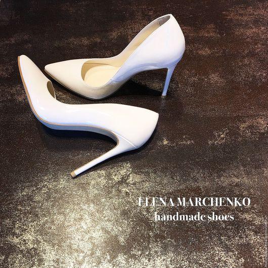 Обувь ручной работы. Ярмарка Мастеров - ручная работа. Купить туфли. Handmade. Белый, туфли, туфли из кожи, туфли лодочки