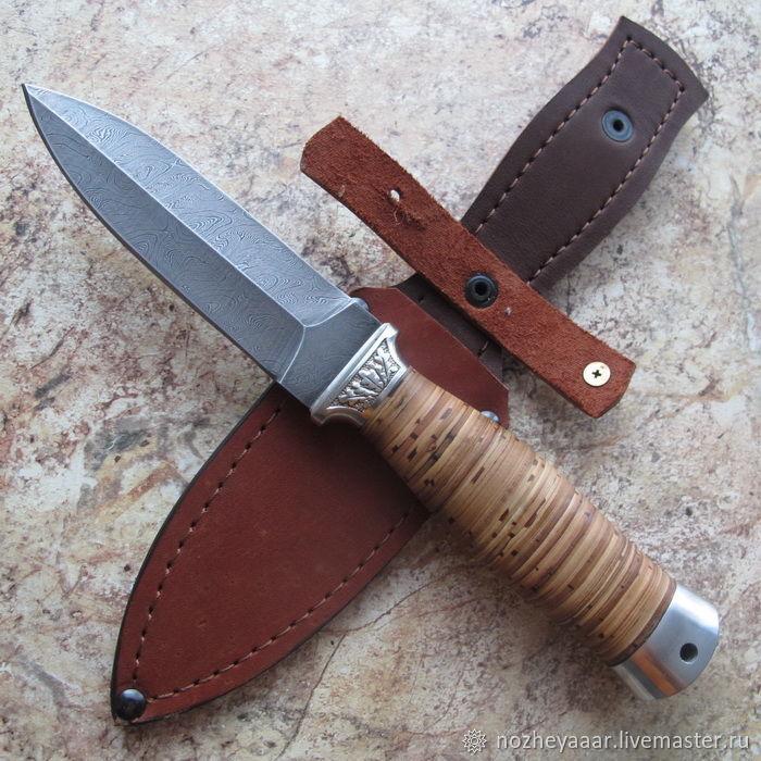Knife 'Highlander' SKIN Doo Damascus elm, Knives, Vorsma,  Фото №1