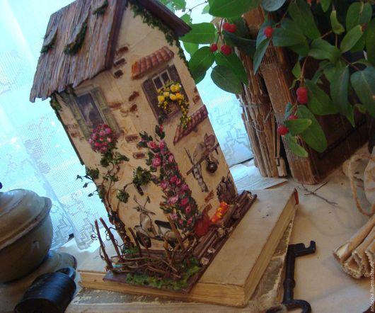 """Кухня ручной работы. Ярмарка Мастеров - ручная работа. Купить """"Домик в деревне маленький...""""-домик для чая. Handmade. Комбинированный"""