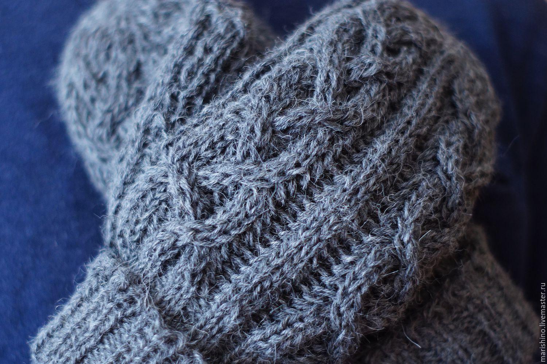 Knitted men's mittens ' Braids', Mittens, Chelyabinsk,  Фото №1