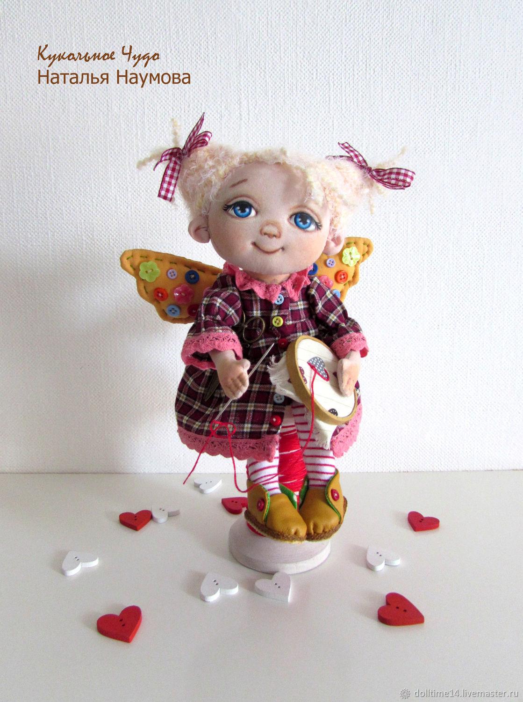 Текстильная кукла Феечка-рукодельница, Куклы и пупсы, Трехгорный,  Фото №1