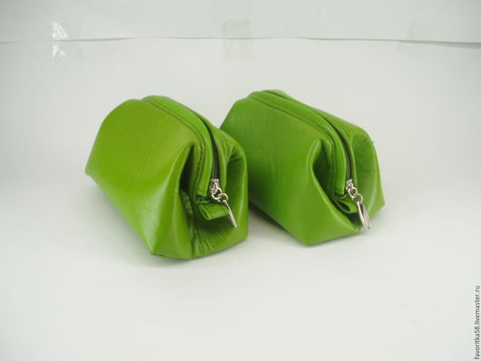 Женские сумки ручной работы. Заказать Косметичка кожаная