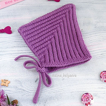 Clothing handmade. Livemaster - original item children`s wool cap for girls knitted warm lilac. Handmade.