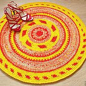 """Для дома и интерьера ручной работы. Ярмарка Мастеров - ручная работа Коврик """"Красно-Солнышко"""" текстильный вязаный. Handmade."""